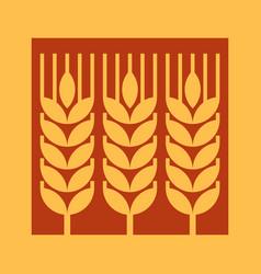 wheat ear sign vector image