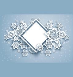 white holiday frame vector image