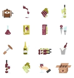 Wine Icon Flat vector