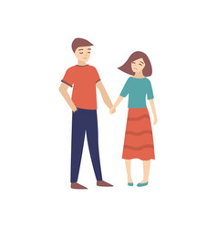young couple in love spends time on a date vector image