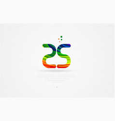 zs z s rainbow colored alphabet letter logo vector image