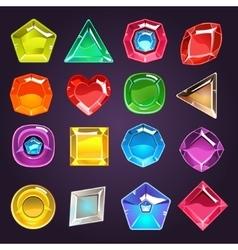 Flash Game Jewel Set vector image vector image
