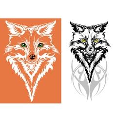 image of an fox vector image vector image