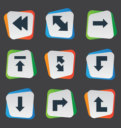 set of simple indicator icons vector image