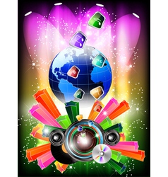 world music background vector image vector image