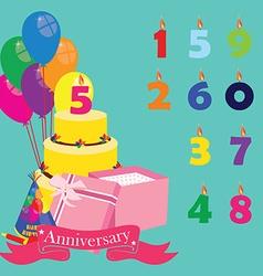 Anniversary celebration vector image vector image