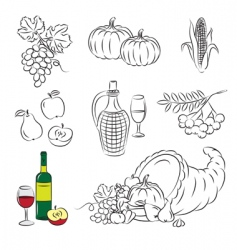 autumn harvest vector image