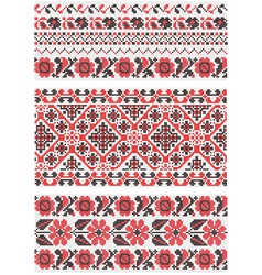 Collection of vegetative ornaments in the Ukrainia vector image vector image