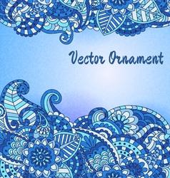 Hand drawn vintage card vector