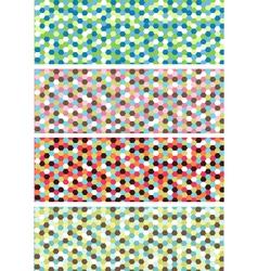 horizontal mosaic banners vector image vector image