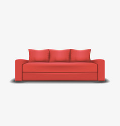 mesh of realistic red sofa vector image