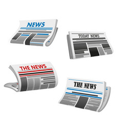newspaper icon of folded printed paper news vector image