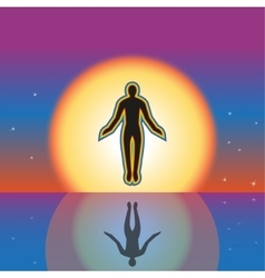 Separation from the earth and a levitation vector image vector image