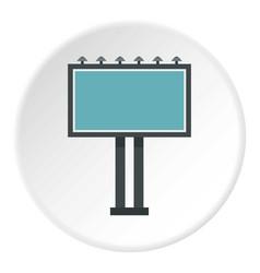 advertising billboard icon circle vector image vector image