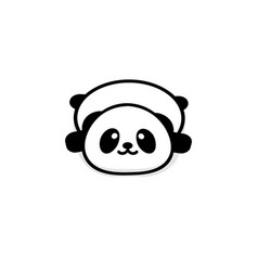 cute stout panda rest lying down vector image vector image