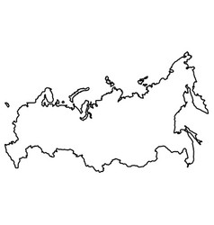 isolated russian map vector image