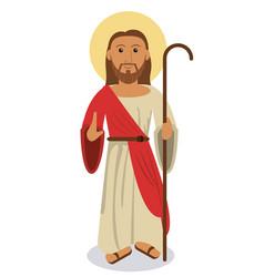 jesus christ religious symbol vector image