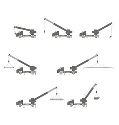 lifting auto crane vector image