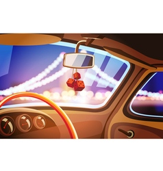 vehicle interior vector image