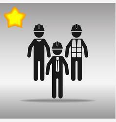 black builder icon button logo symbol concept high vector image vector image