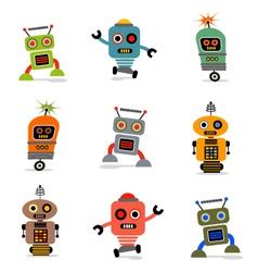 cute robots set 1 vector image vector image