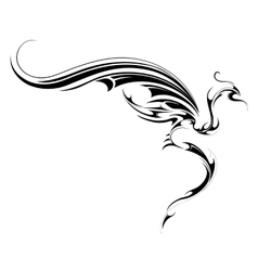 Flying dragon tattoo vector image