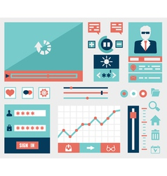 Modern flat symbols and elements of user interface vector image vector image