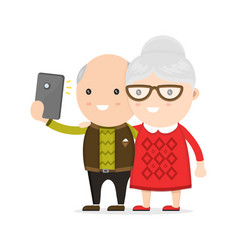 old man and woman grandmother vector image vector image