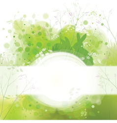 spring frame rabbits card vector image vector image