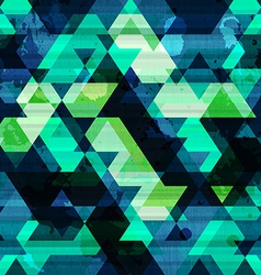 urban triangle seamless pattern with grunge effect vector image vector image