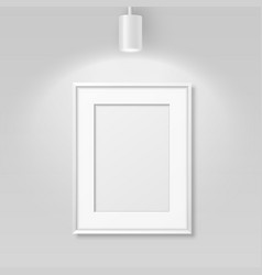 3d realistic a4 white wooden simple modern vector image