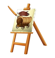 A painting of a wooden carriage vector image