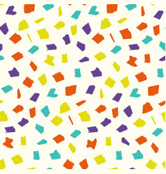 abstract pattern with colorful drawing blotches vector image