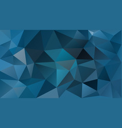 Abstract polygonal background cerulean blue vector