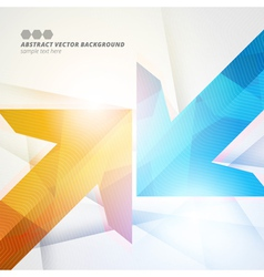 Arrows abstract geometric color background eps10 vector