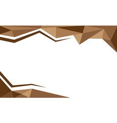 Background trangle brown vector