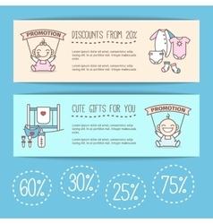 Bagoods sale posters kids store vector