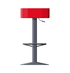Barstool chair pub club bar trendy equipment vector