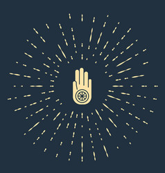 Beige symbol jainism or jain dharma icon vector