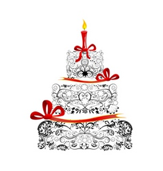 Beautiful Birthday Cake Vector Images over 1600