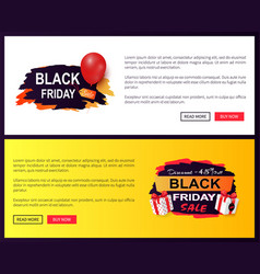 black friday sale tags advertising badges balloon vector image