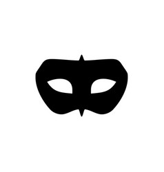 Black mask masquerade symbol design vector