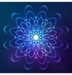 Blue shining cosmic flower vector