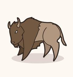 buffalo bison graphic vector image