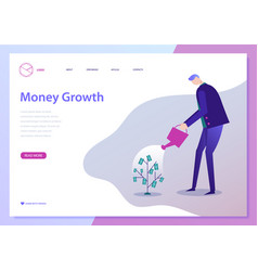 Businessman watering money vector