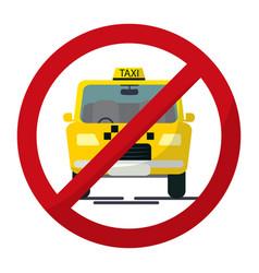 Cab sing no parking sing taxi design vector