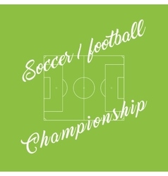 Championship soccer football green background vector