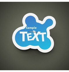 Chat bubble label vector image