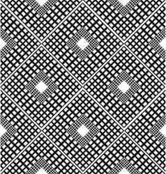 Checkered black and white pattern with rhombuses vector