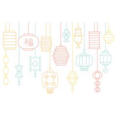 chinese lantern banner for lunar new year vector image